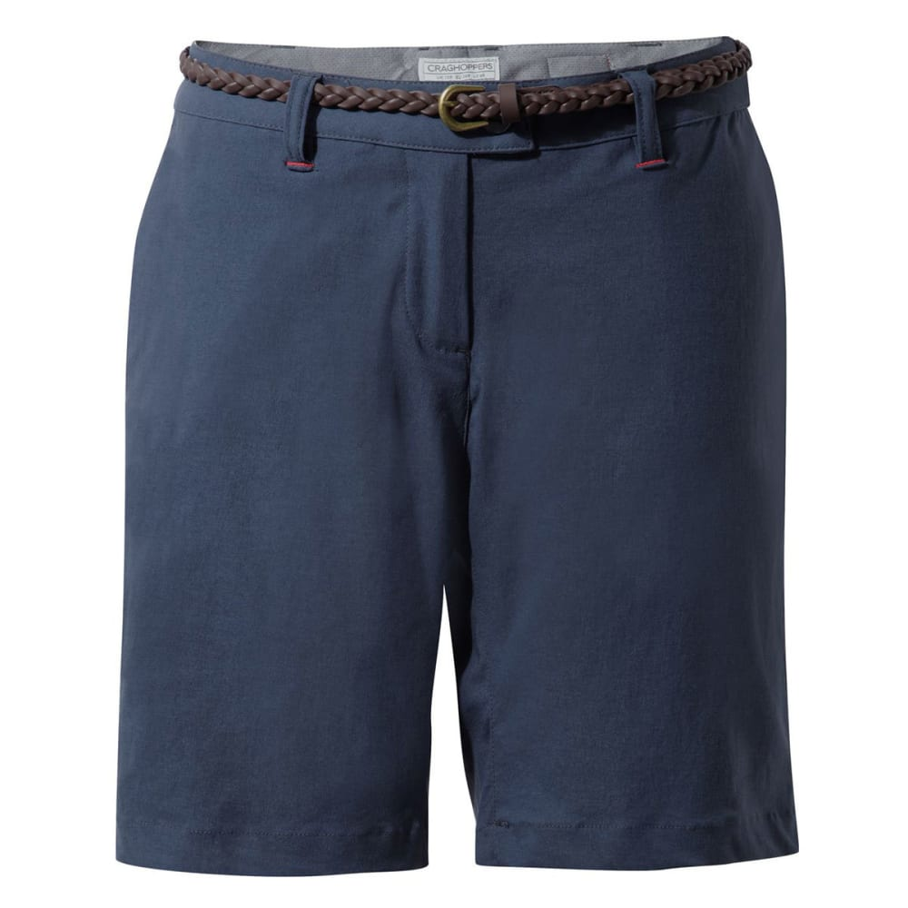 CRAGHOPPERS Women's NosiLife Fleurie Shorts - SOFT NAVY MARL-7ML