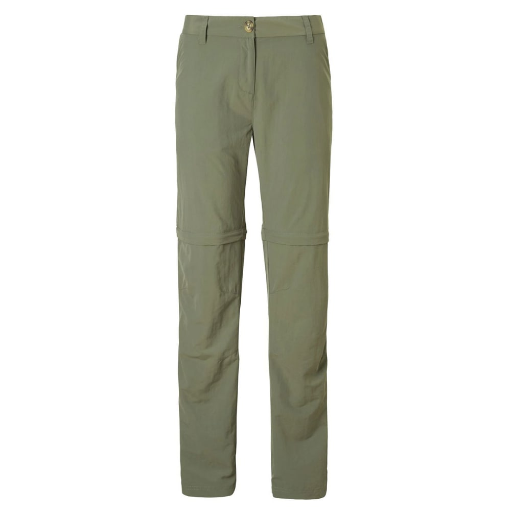 CRAGHOPPERS Women's NosiLife II Zip Off Pants - SOFT MOSS-3L0