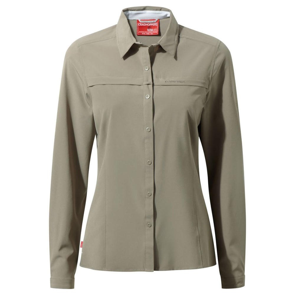 CRAGHOPPERS Women's NosiLife Pro Long Sleeve Shirt - MUSHROOM-73T