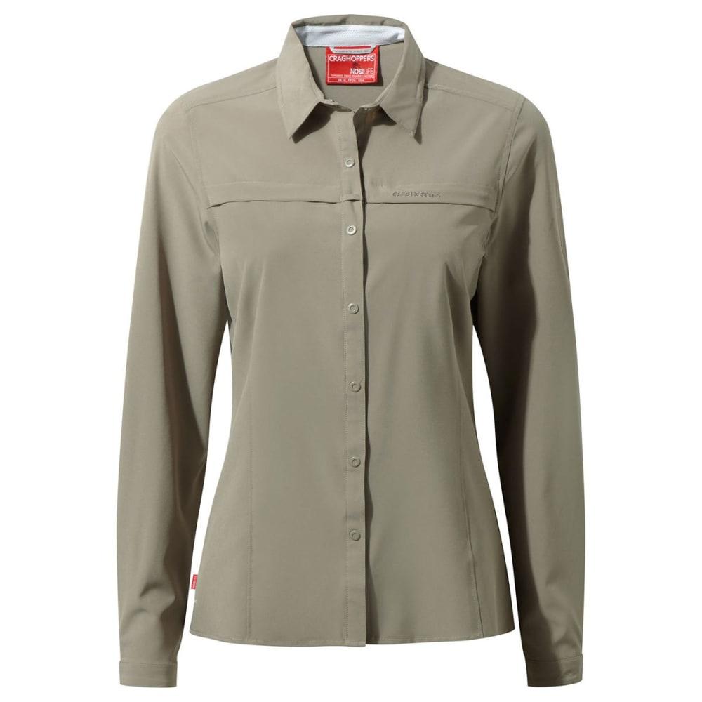 CRAGHOPPERS Women's NosiLife Pro Long Sleeve Shirt - MUSHROOM-73T