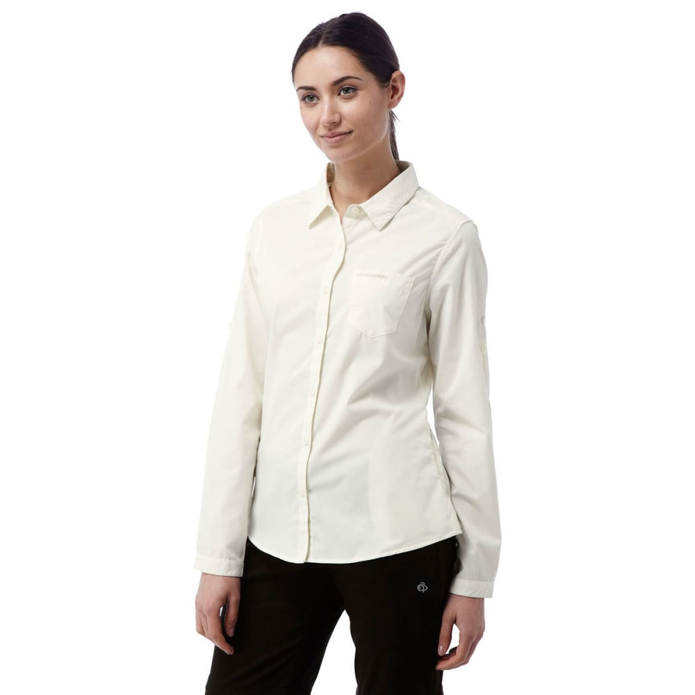 CRAGHOPPERS Women's NosiDefence Kiwi Long Sleeve Shirt - SEA SALT-33A