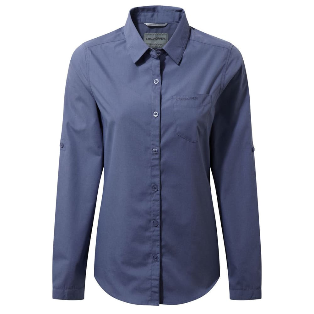 CRAGHOPPERS Women's NosiDefence Kiwi Long Sleeve Shirt - CHINA BLUE-H15
