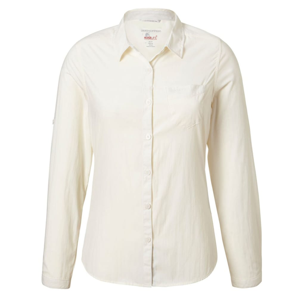 CRAGHOPPERS Women's NosiLife Bardo Long Sleeve Shirt - SEA SALT-33A