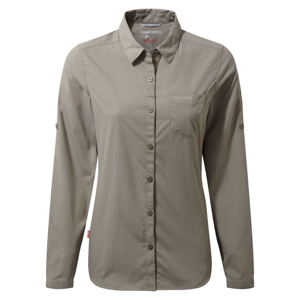 CRAGHOPPERS Women's NosiLife Bardo Long Sleeve Shirt - MUSHROOM-73T