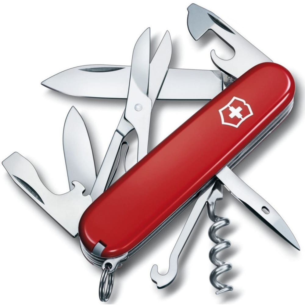 VICTORINOX SWISS ARMY Climber Pocket Knife - RED