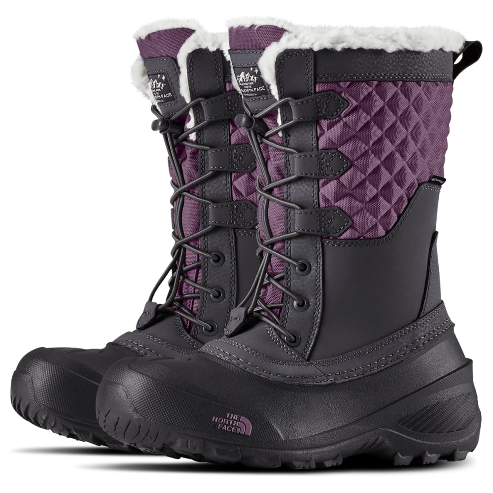 THE NORTH FACE Girls' Shellista Lace III Waterproof Insulated Winter Boots - PERI GRY/PUR SGE-5SS