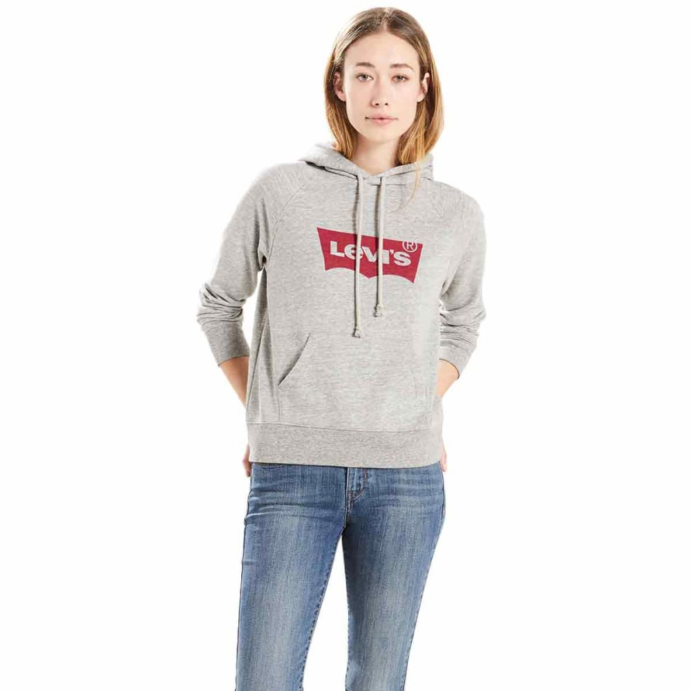 LEVI'S Women's Graphic Pullover Hoodie - 0003-SMOKESTACK HTHR