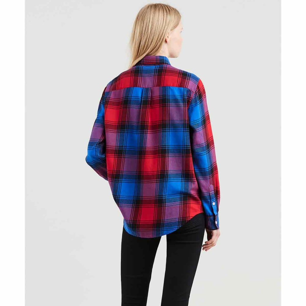 LEVI'S Women's Ultimate Boyfriend Long-Sleeve Shirt - 0019-CHINESE RED PLD