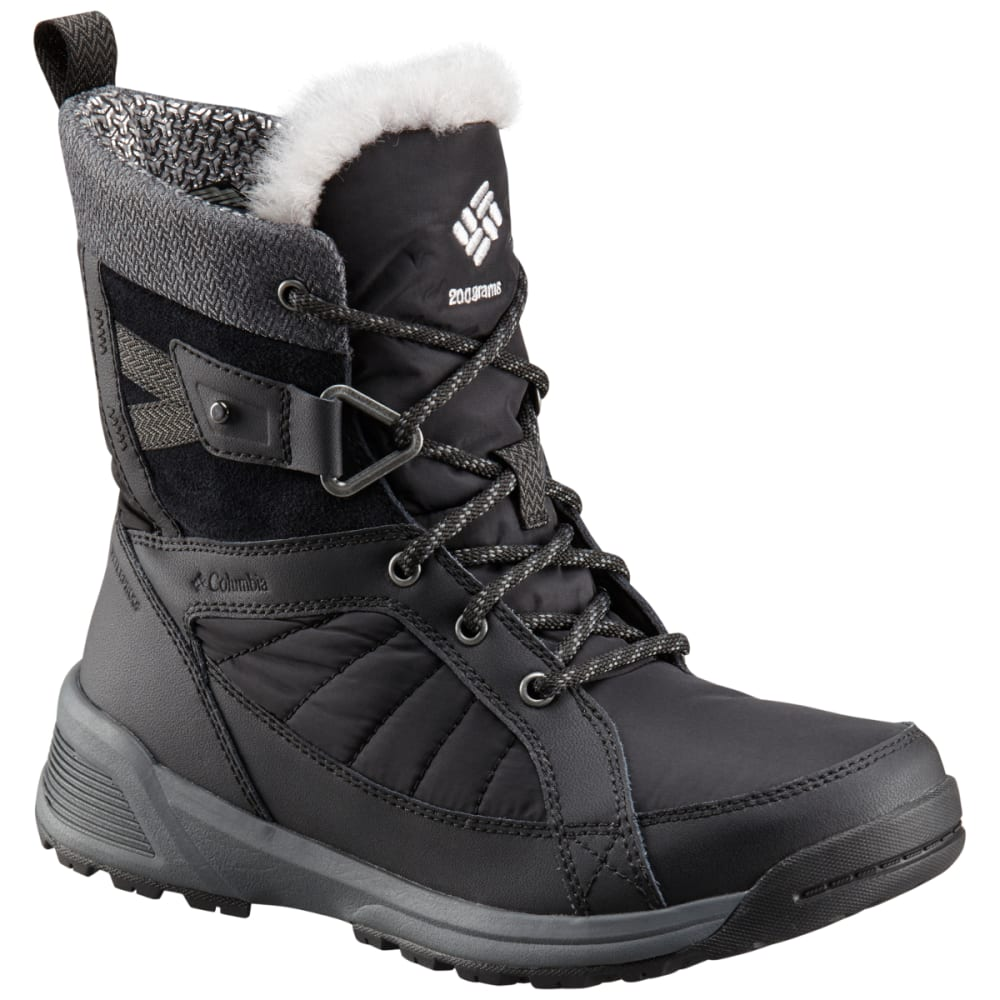 COLUMBIA Women's Meadows Shorty Omni-Heat 3D Insulated Waterproof Winter Boots - BLACK/STEAM 010