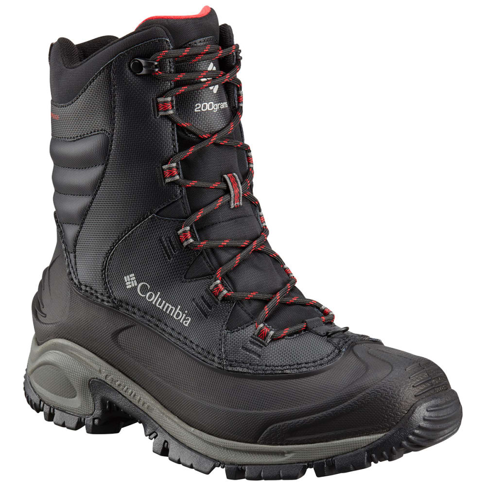COLUMBIA Men's Bugaboot III Waterproof Insulated Storm Boots, Wide - BLACK/RED 010