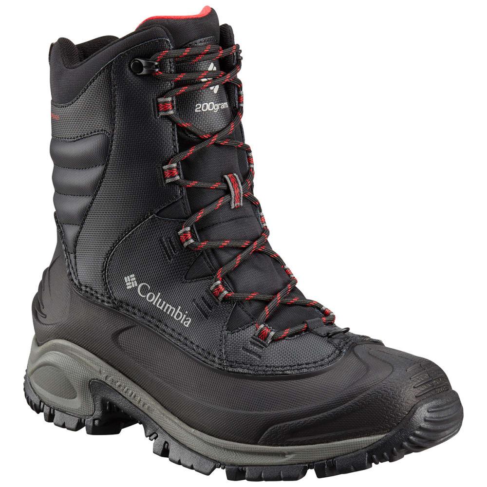 COLUMBIA Men's Bugaboot III Waterproof Insulated Storm Boots, Wide - BLACK/RED 010