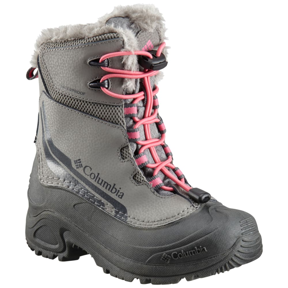 COLUMBIA Girls' Bugaboot IV Waterproof Insulated Storm Boots - STRATUS/ROSE-008