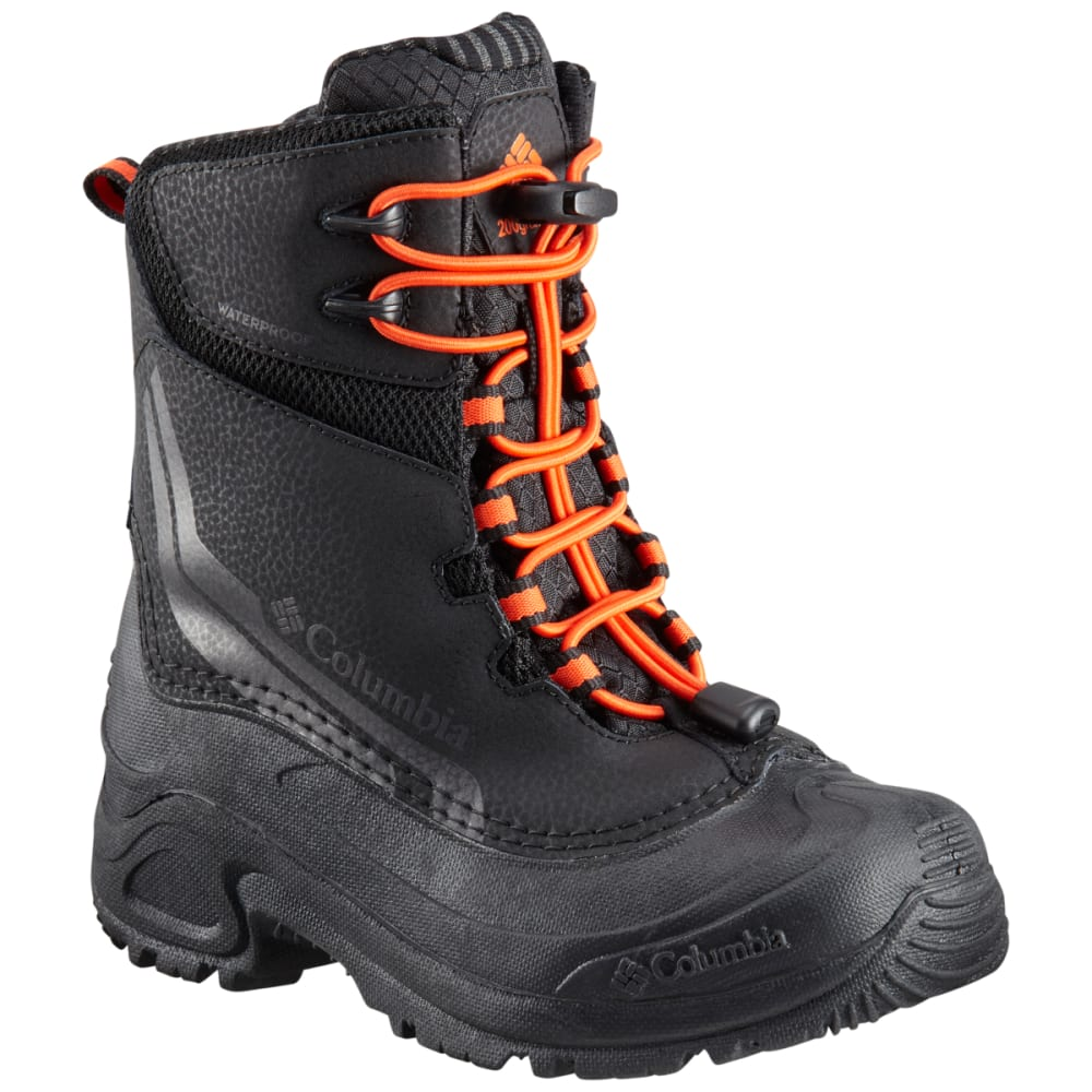 COLUMBIA Boys' Bugaboot IV Waterproof Insulated Storm Boots - BLACK/ORG-010