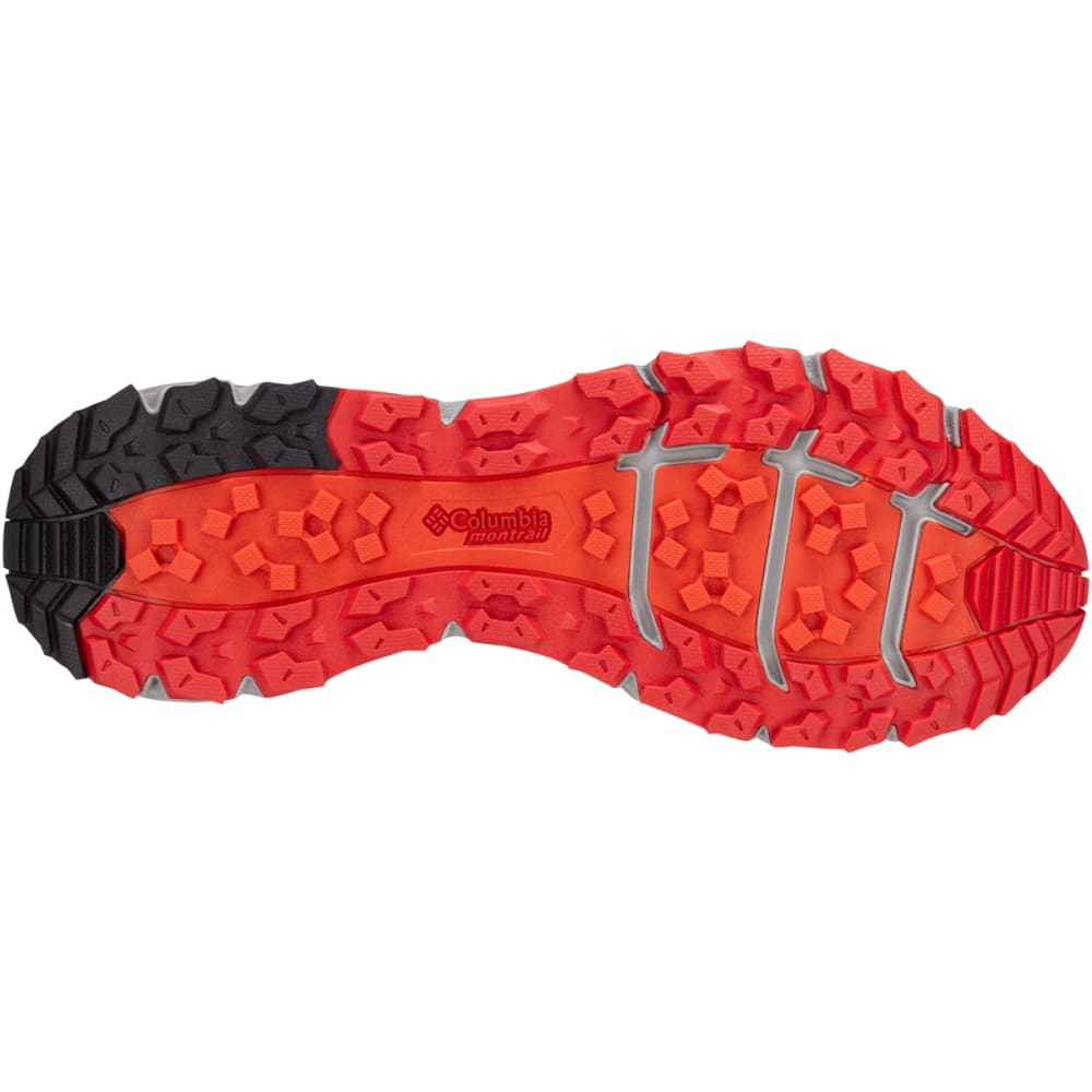 COLUMBIA Men's Caldorado III Trail Running Shoes - STEAM/ORANGE 088