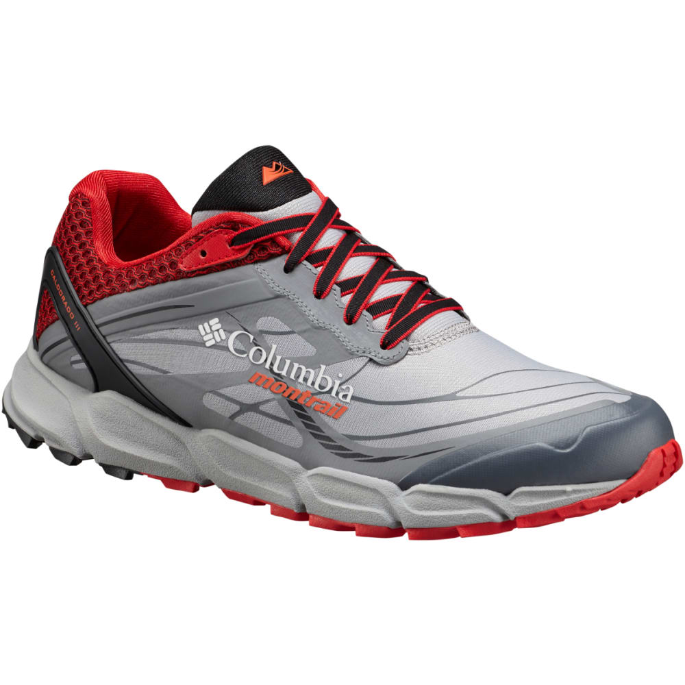 COLUMBIA Men's Caldorado III Trail Running Shoes - STEAM/ORANGE 088