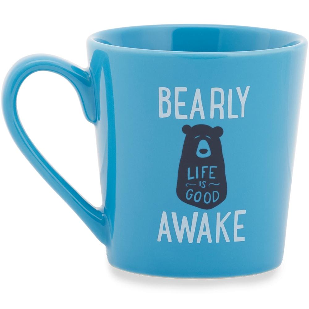 LIFE IS GOOD Sleepy Bear Everyday Mug - POWDER BLUE