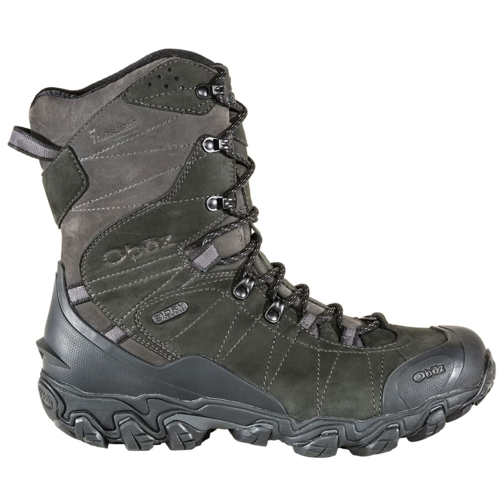 OBOZ Men's 10 in. Bridger Insulated Waterproof Storm Boots - CARBON BLACK