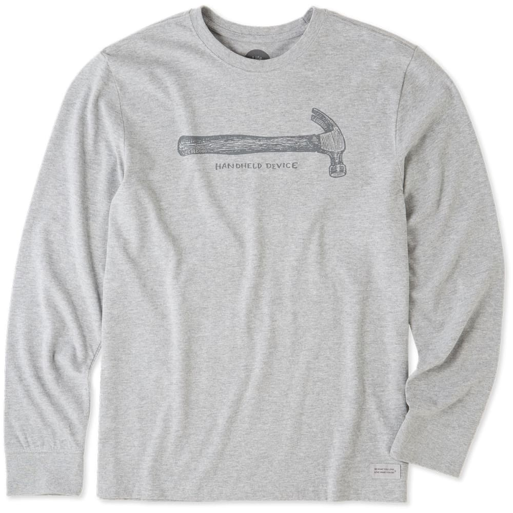 LIFE IS GOOD Men's Mobile Device Hammer Crusher Long-Sleeve Tee - OXFORD