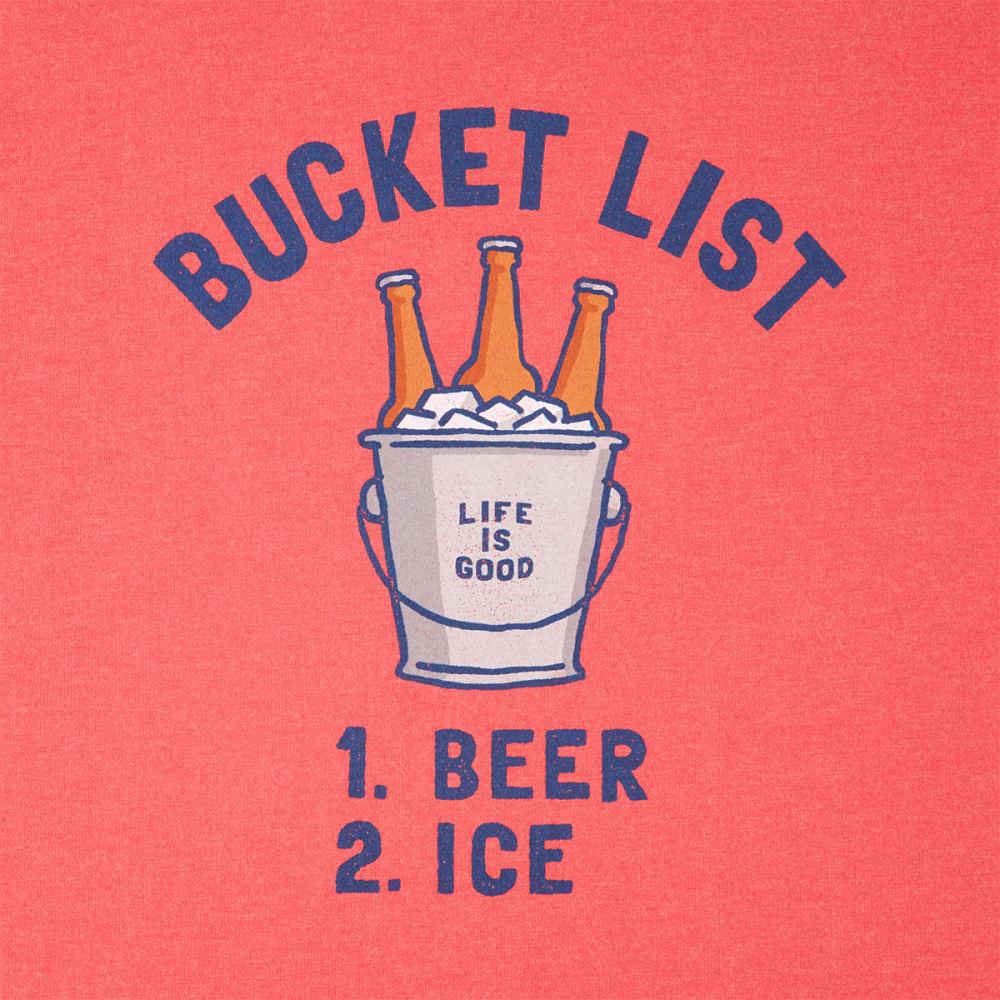 LIFE IS GOOD Men's Bucket List Beer Crusher Long-Sleeve Tee - RED