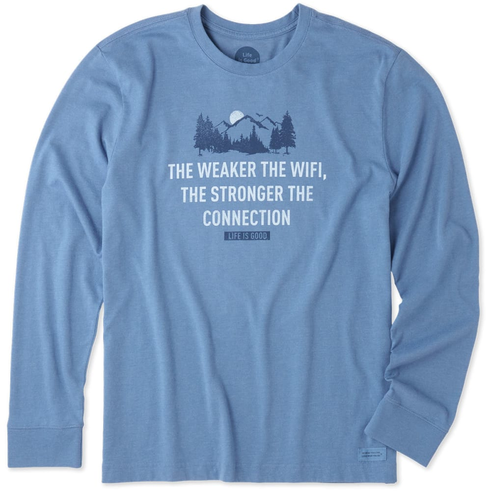 LIFE IS GOOD Men's Strong Connection Crusher Long-Sleeve Tee - BLUE