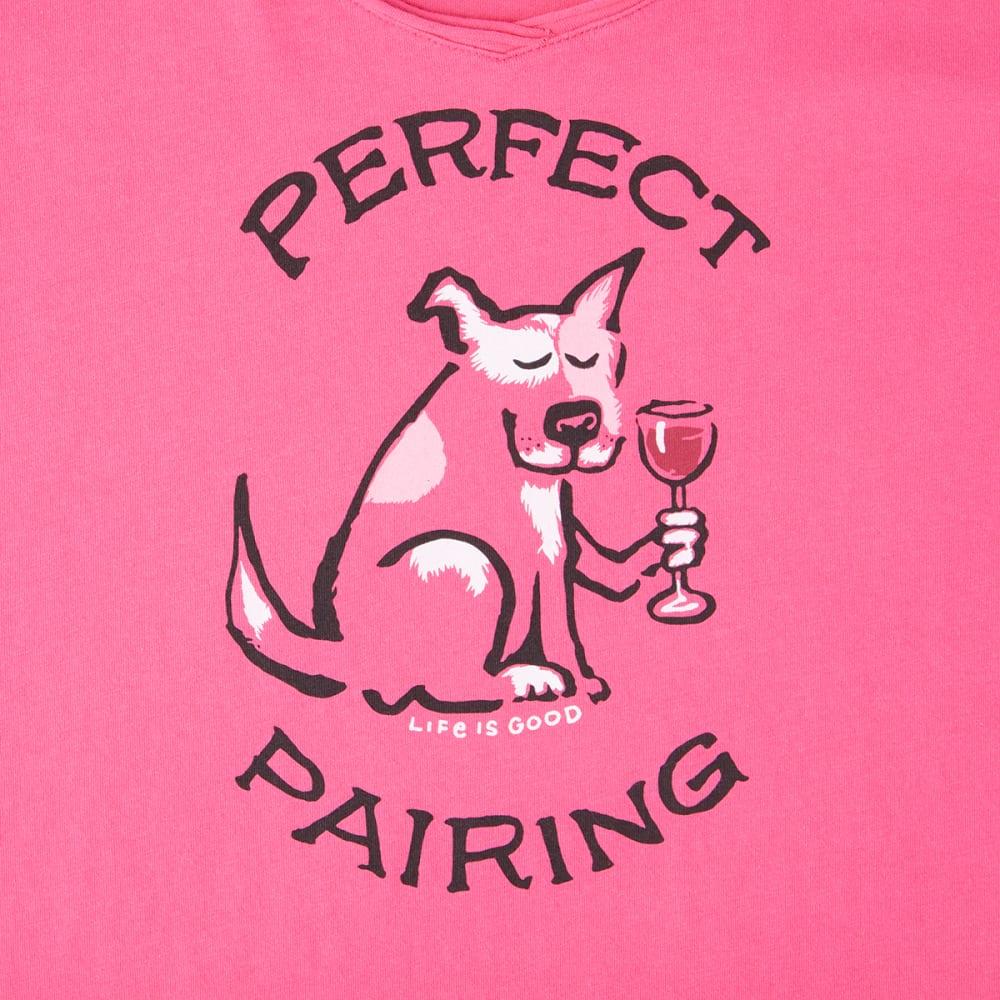 LIFE IS GOOD Women's Funky Perfect Pairing Smooth Long-Sleeve Tee - FIESTA PINK