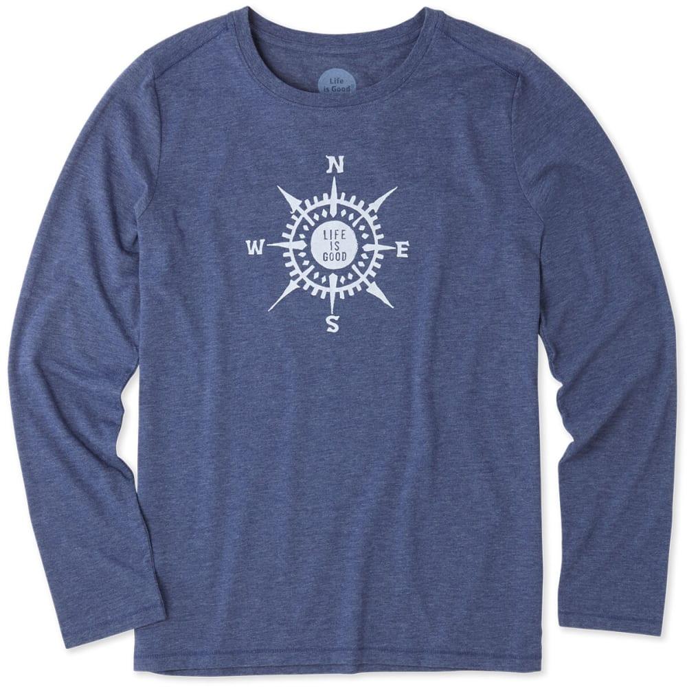 LIFE IS GOOD Women's LIG Compass Long-Sleeve Cool Tee - DARKEST BLUE