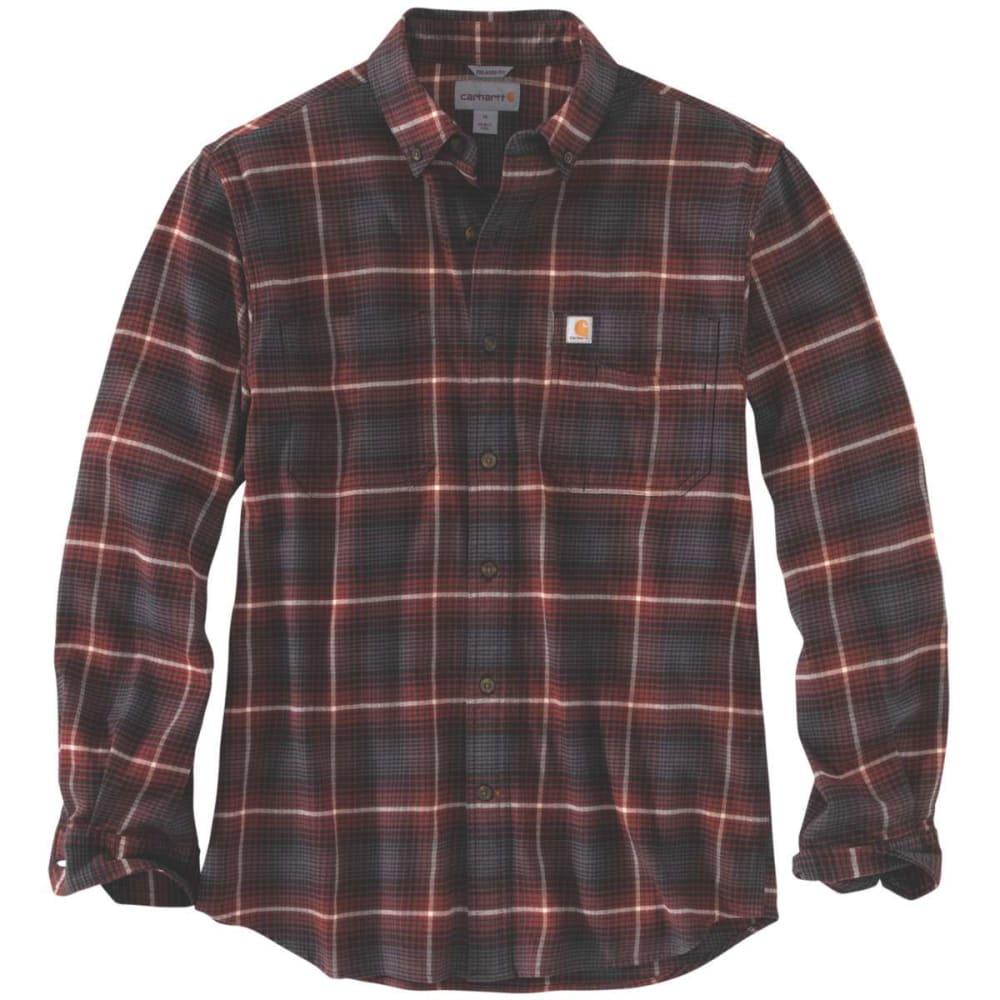 CARHARTT Men's Rugged Flex Hamilton Plaid Long-Sleeve Shirt S