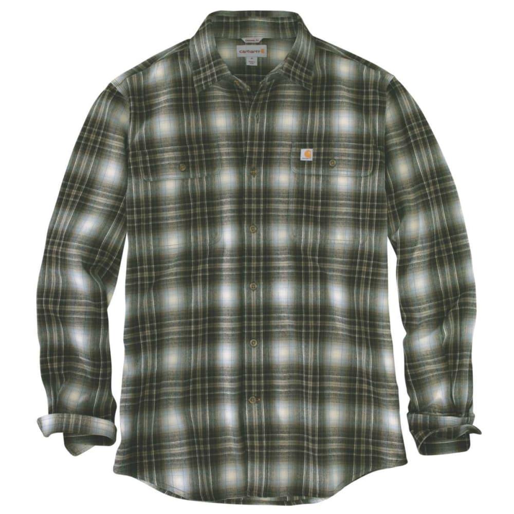 CARHARTT Men's Hubbard Plaid Long-Sleeve Flannel Shirt S