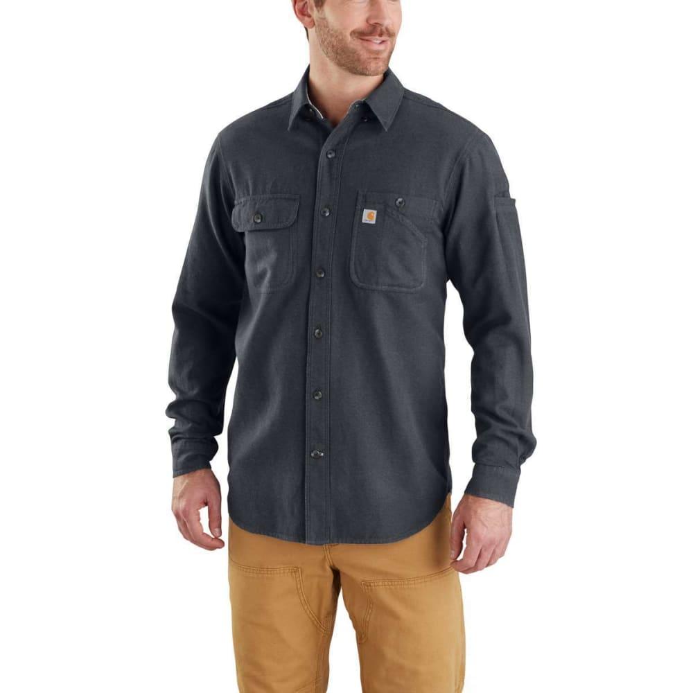 CARHARTT Men's Beartooth Long-Sleeve Flannel Shirt - 020 GRANITE HTHR