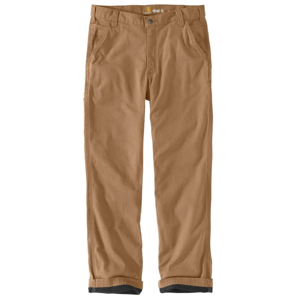 CARHARTT Men's Rugged Flex Rigby Dungaree Knit Lined Pants - 253 DARK KHAKI