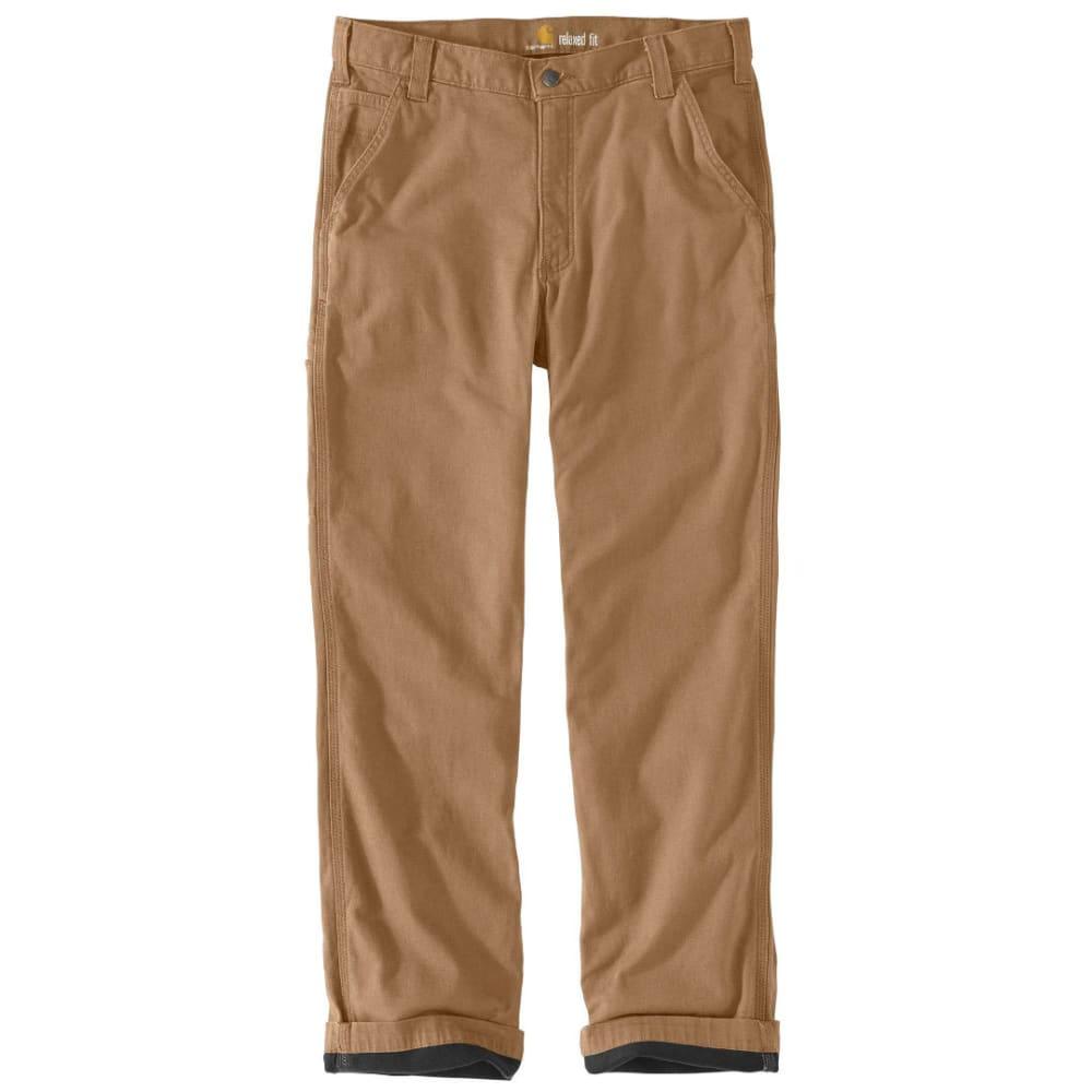 CARHARTT Men's Rugged Flex Rigby Dungaree Knit Lined Pants - 253 DARK KHAKI