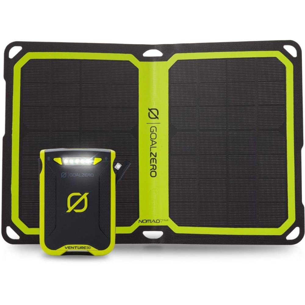GOAL ZERO Venture 30 Power Bank + Nomad 7 Plus Solar Kit - NO COLOR