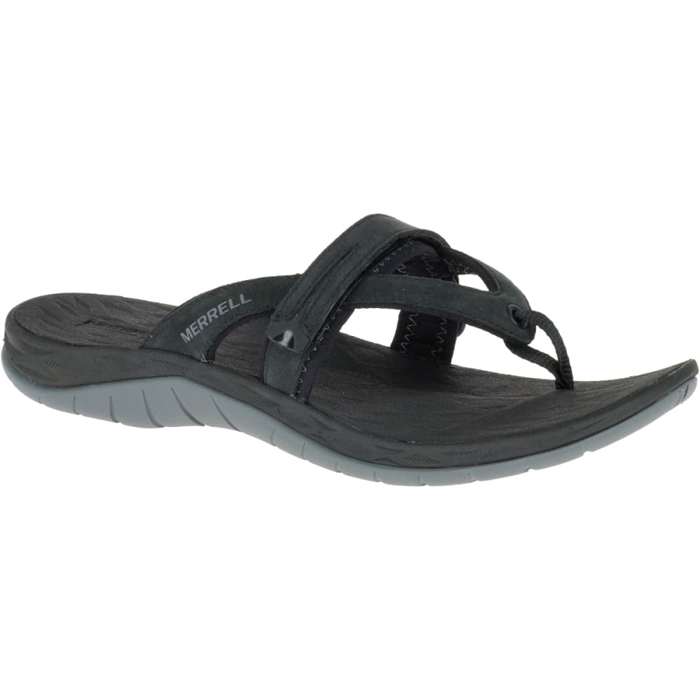 MERRELL Women's Siren Flip Q2 Sandals - BLACK