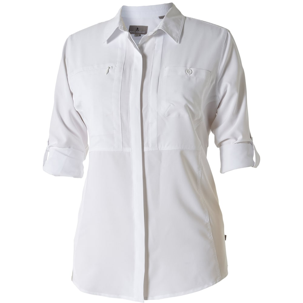 ROYAL ROBBINS Women's Bug Barrier Expedition Long-Sleeve Shirt - WHITE