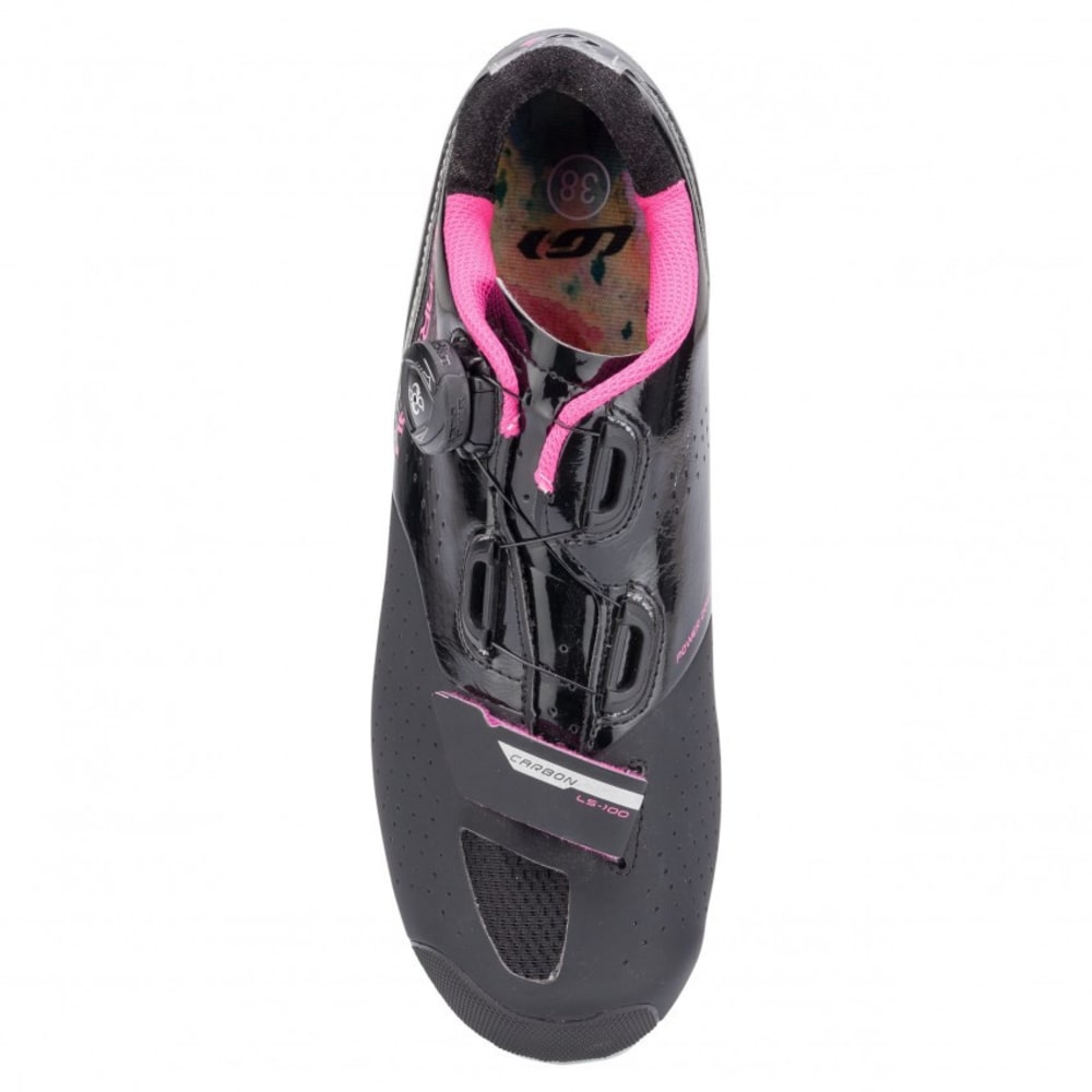 LOUIS GARNEAU Women's Carbon Ls-100 II Cycling Shoes - BLACK/PINK