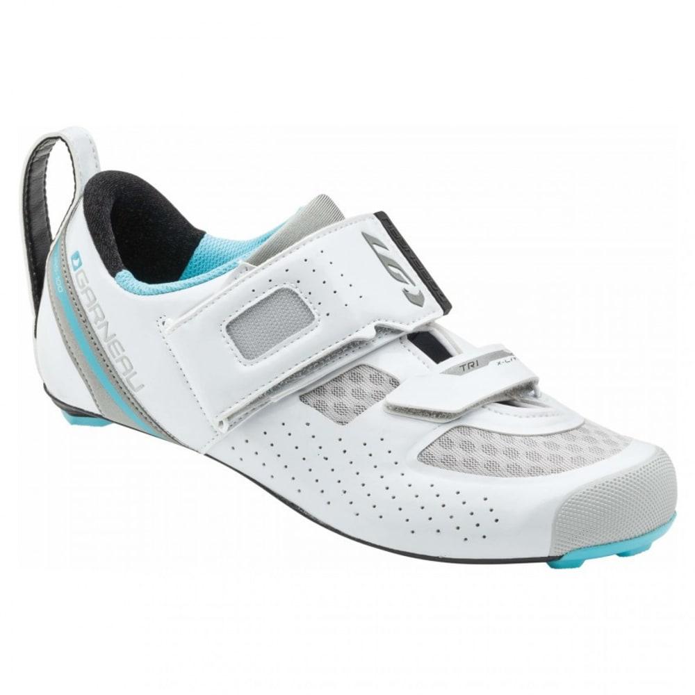LOUIS GARNEAU Women's Tri X-lite II Triathlon Shoes, WhiteBlue Fish - WHITE/BLUE FISH