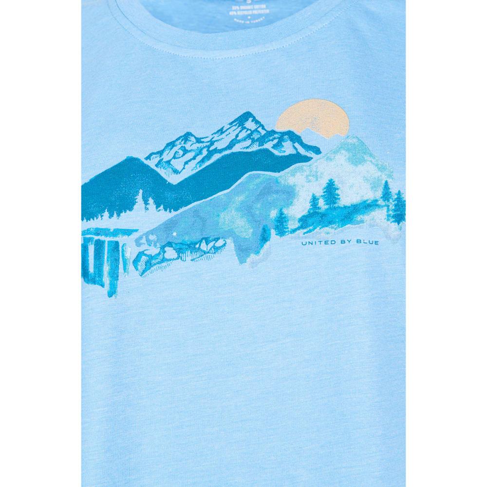 UNITED BY BLUE Women's Mountain Drift Short-Sleeve Tee - RIVER BLUE