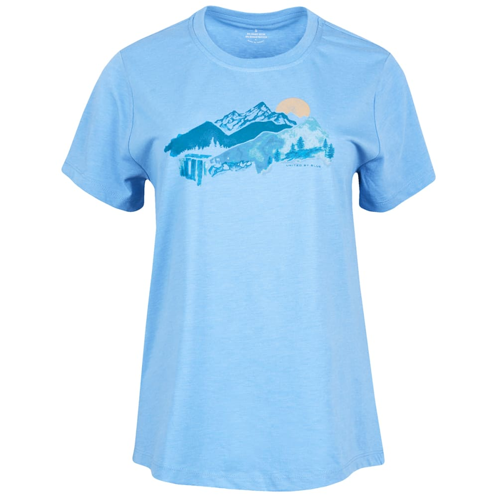 UNITED BY BLUE Women's Mountain Drift Short-Sleeve Tee - RIVER BLUE