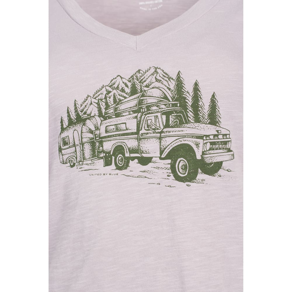 UNITED BY BLUE Women's Truck & Camper Short-Sleeve Tee - GREY
