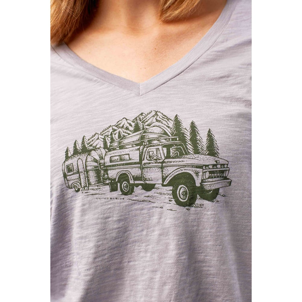 UNITED BY BLUE Women's Truck & Camper Short-Sleeve Tee - GREY