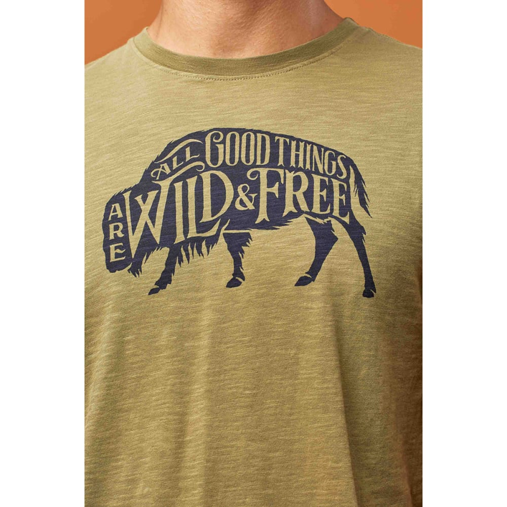 UNITED BY BLUE Men's Wild & Free Short-Sleeve Tee - OLIVE