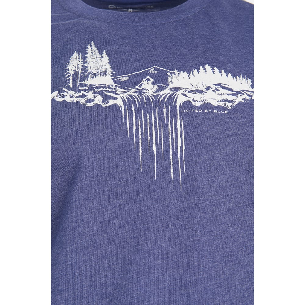 UNITED BY BLUE Men's Paddle Falls Short-Sleeve Tee - NAVY