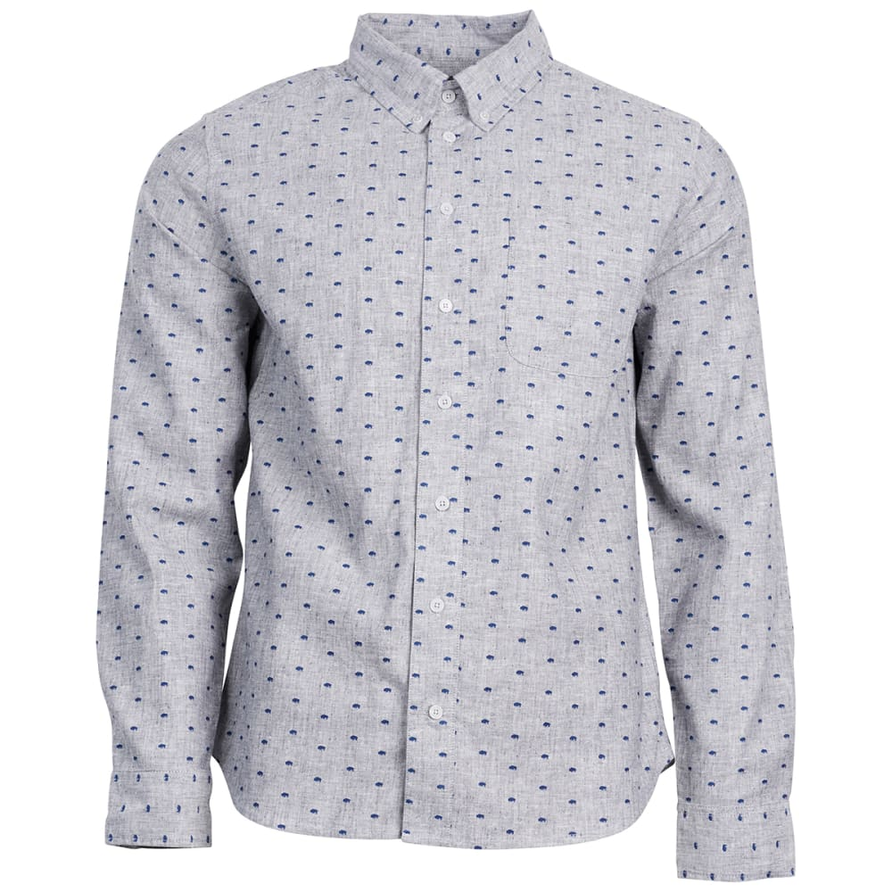 UNITED BY BLUE Men's Bison Print Button-Down Long-Sleeve Shirt S