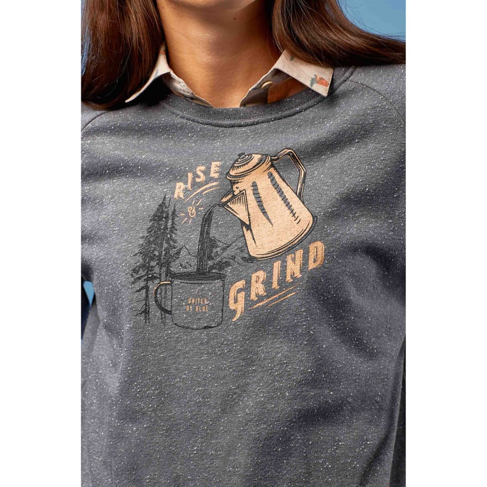 UNITED BY BLUE Women's Rise & Grind Crew Long-Sleeve Pullover - STEEL GREY