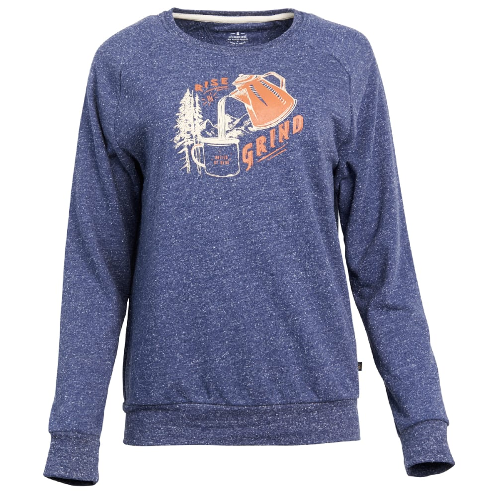 UNITED BY BLUE Women's Rise & Grind Crew Long-Sleeve Pullover S