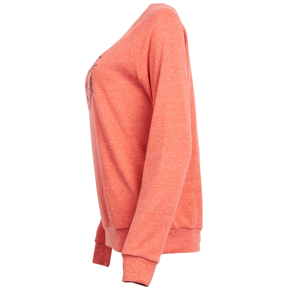 UNITED BY BLUE Women's Tough as Trails Crew Long-Sleeve Pullover - TERRACOTTA