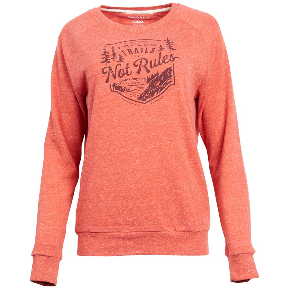 UNITED BY BLUE Women's Tough as Trails Crew Long-Sleeve Pullover S