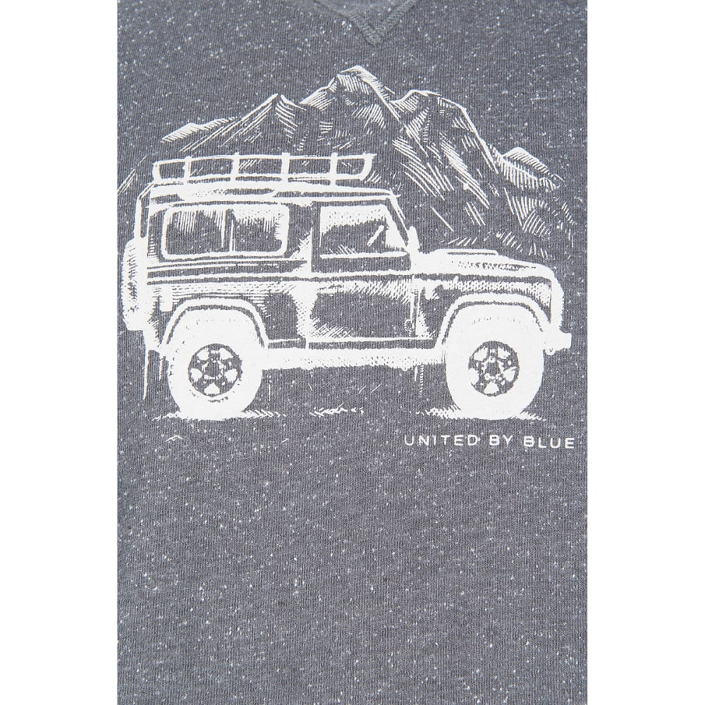 UNITED BY BLUE Men's Adventure Mobile Crew Long-Sleeve Pullover - STEEL GREY