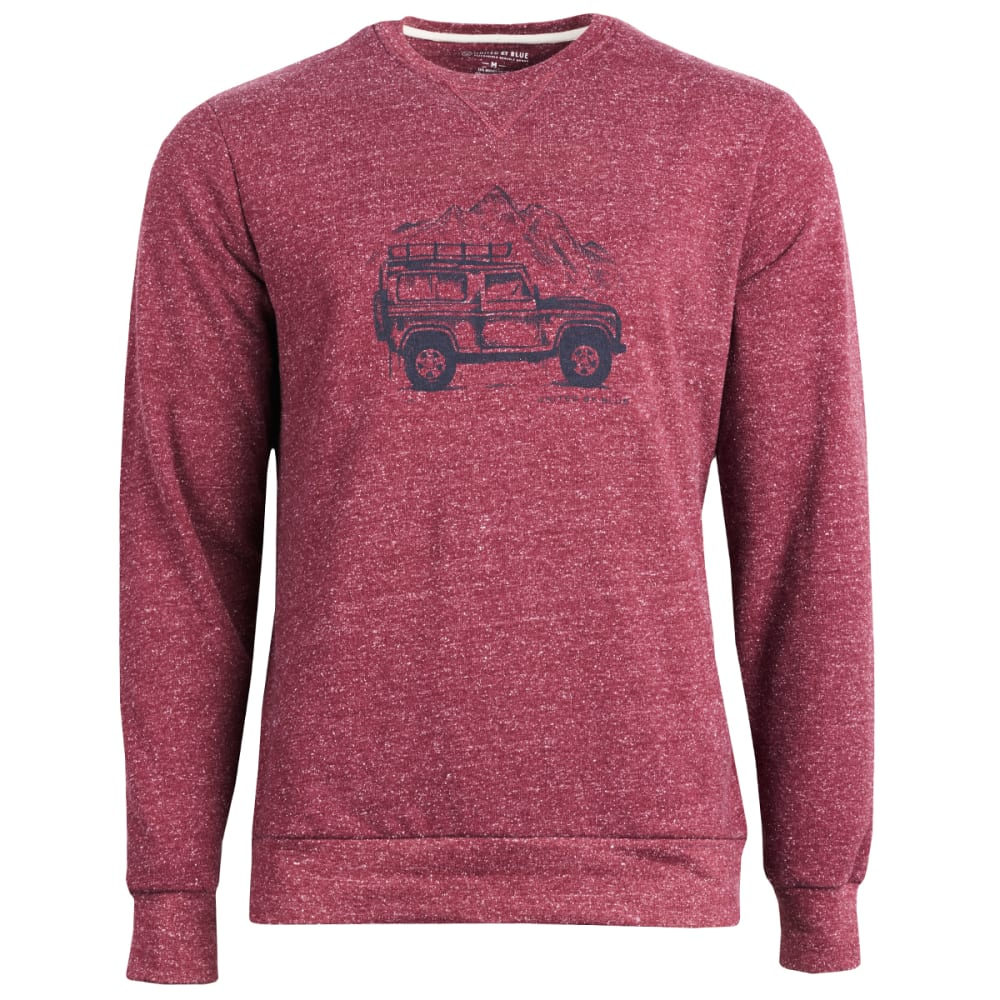 UNITED BY BLUE Men's Adventure Mobile Crew Long-Sleeve Pullover - WINE