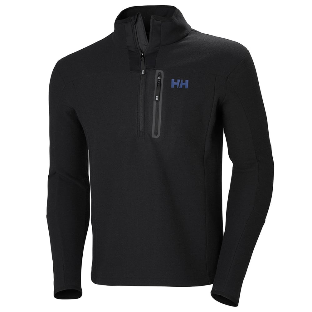 HELLY HANSEN Men's Vanir Half Zip Fleece - BLACK